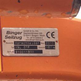 USATO Porta attrezzi marca BINGER SEILZUG 2